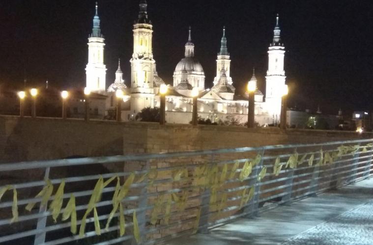 CDR Cataluña lazos amarillos Zaragoza